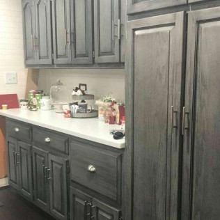Cabinet refinishing by Devine Custom Painting in Evansville, IN
